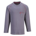 Standard Crew - Front View - Gray/Red