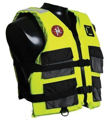 First Watch 4-Pocket Crew Vest - Hi-Vis Yellow