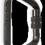 CMC Steel_Locking_D_Carabiner Black