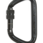 CMC Steel_Locking_D_Carabiner Black Left