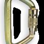 CMC Steel_Locking_D_Carabiner Gold