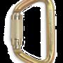 CMC Steel_Locking_D_Carabiner Gold Left